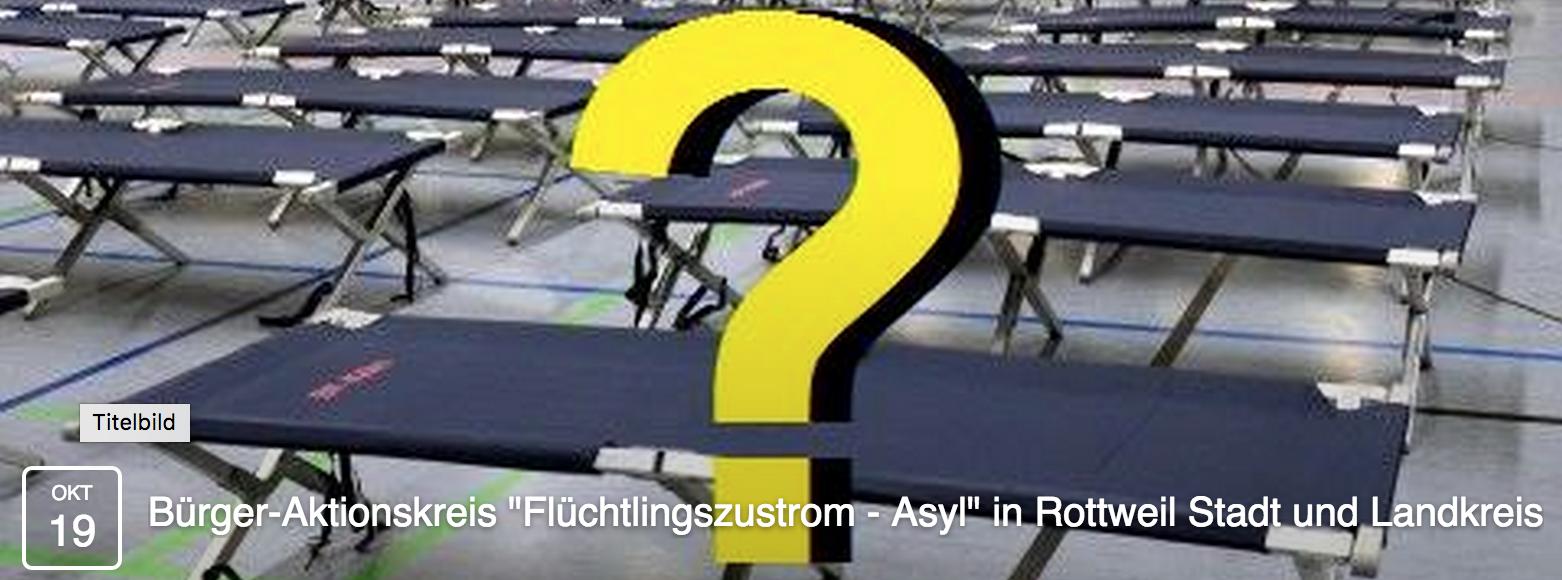 """Bürger-Aktionskreis """"Flüchtlingszustrom – Asyl"""" in Rottweil Stadt und Landkreis"""