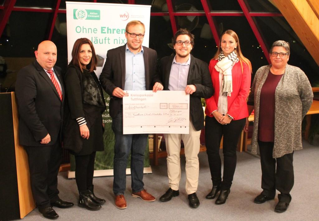Marcus Kiekbusch (Bezirksvorsitzender),Bilkay Öney (Integrationsmenisterin Baden-Württemberg), Vertreter des Vereins, Frau Moosmann (Stadt Rottweil), Monika Alt (Bezirksjugendleiterin)